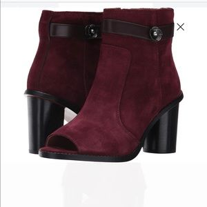THE HOTTEST!! COACH OT WINE SUEDE BOOTIES SZ 8!!